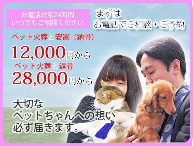 大阪・西区・立売堀のペット火葬は大阪ペット斎場